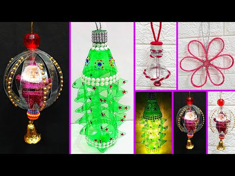 4 Economical Christmas Craft/Ornament with Plastic Bottle |Best out of waste Christmas craft idea
