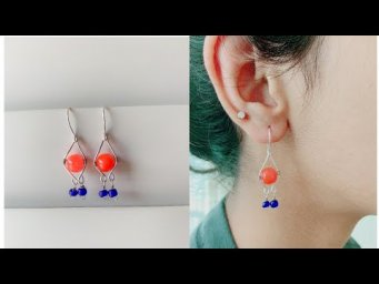 Making Beautiful and trendy earrings/simple and easy wire wrapped earrings/diy earrings