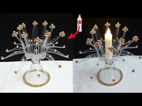 DIY-handmade tealight holder /showpiece made From Plastic Bottle| DIY home decoration ideas