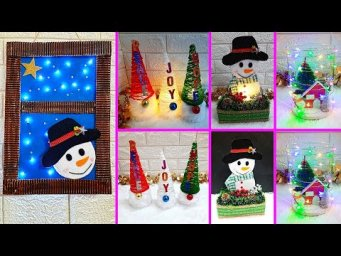 Economical 4 Easy Christmas Craft idea | Best out of waste Low budget Christmas craft idea (Part 6)