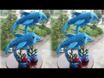 3D Origami Dolphin Tutorial | DIY Paper Dolphin Home Decoration