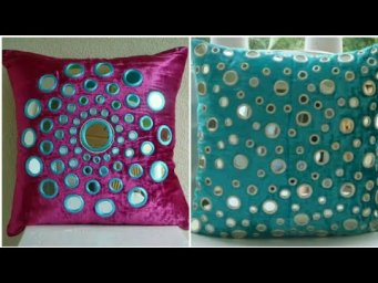 Beautiful Mirror Work Pillow Cushion Cover Ideas Collection / Heavenly Handmade Creations