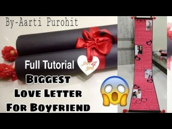 Valentine Love Letter For Boyfriend||Biggest Love Letter Full Tutorial||
