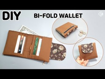 DIY BI-FOLD WALLET/ How to make a mini wallet/ Easy sewing tutorial [Tendersmile Handmade]