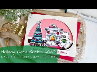 Holiday Card Series 2020 #14 | Copic Coloring | Lawn Fawn