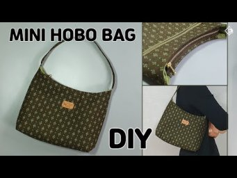 DIY HANDMADE SHOULDER BAG / Mini Hobo Bag/ Make a Bag/ Free Pattern/ sewing  [Tendersmile Handmade]