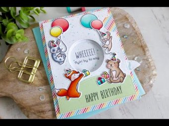 Magic Iris Birthday Card | Copic Coloring | Lawn Fawn