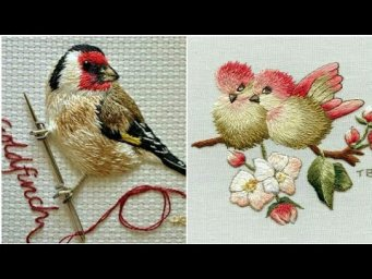 Hand Embroidery design of a birds / Embroidery designs patterns / Bird embroidery design
