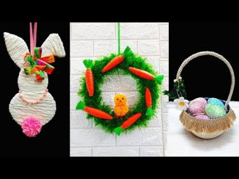 3 Economical Easter Craft made with waste materials |DIY Low budget Easter décor idea (Part 9)