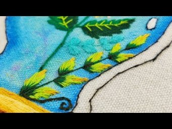 Hand Embroidery For Beginners : Leaves Color Toning