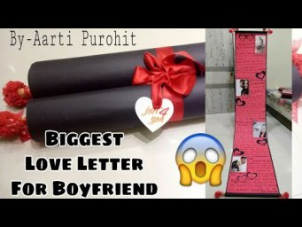 Valentines Day Love Letter For Boyfriend||Big size Love letter|| Most Romantic n Biggest Love Letter