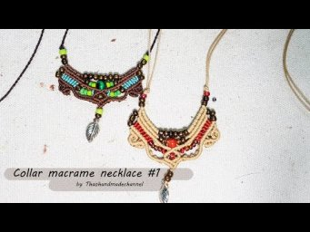 Macrame necklace tutorial |  Collar macrame necklace pattern #1 by Thaohandmade