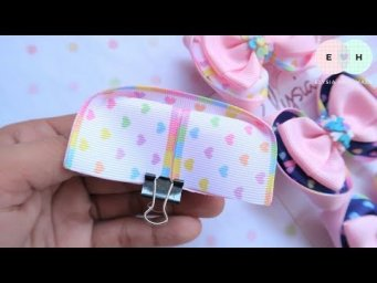 Amazing Ribbon Bow With Clay - Hand Embroidery Works - Ribbon Tricks & Easy Making Tutorial #68