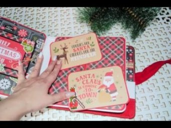 Pop up book MERRY CHRISTMAS Стр №6/tutorial Pop up book/scrapbook element/How to create pop up page