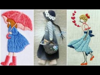 Amazing and Beautiful Hand Embroidery for Doll design  / Hand Embroidery for Doll design patterns