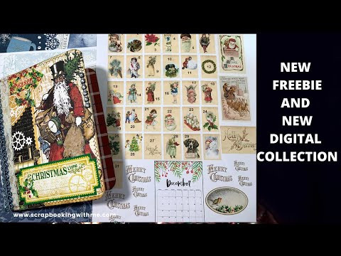 NEW FREEBIE DECEMBER DAILY AND NEW DIGITAL COLLECTION FROM ETSY