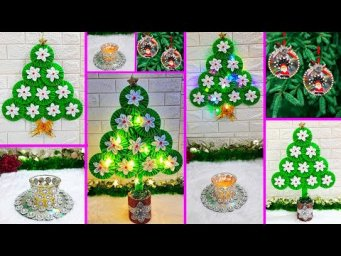 4 Economical Christmas Craft idea with waste CD. |Best out of waste Low budget Christmas craft idea
