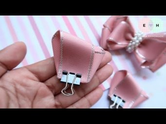 DIY Ribbon Bow - Hand Embroidery Works - Ribbon Tricks & Easy Making Tutorial #73