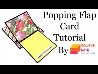 Popping Flap Card Tutorial By Srushti Patil | Scrapbook Card