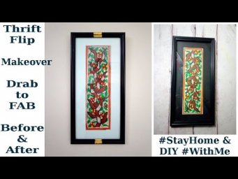 Expensive High End Inspired Picture Frame Makeover Thrift Flip Before & After #StayHome DIY #WithMe