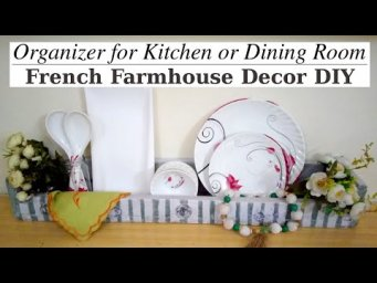 French Farmhouse Organizer Decor DIY Collaboration Trash to Treasure Image Transfer to Wood #WithMe