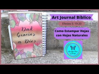 Art journal Bíblico Efesios 5: 19- 20
