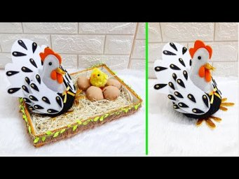 Economical Easter Craft made with waste materials |DIY Low budget Easter décor idea (Part 11)