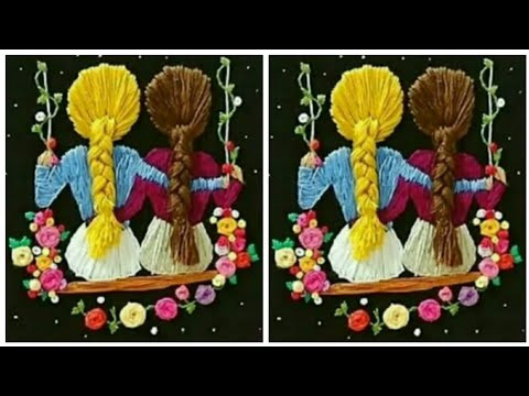 Hair Embroidery Stitching Designs Ideas / Hand Embroidery / Embroidery Designs Ideas