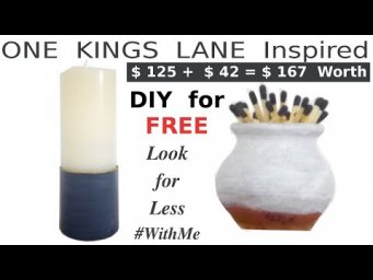 One Kings Lane Inspired Decor Look for Less DIY for FREE #WithMe
