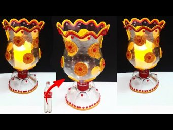 Best out of waste Showpiece /Tealight Holder made from Plastic Bottle| DIY home decoration ideas