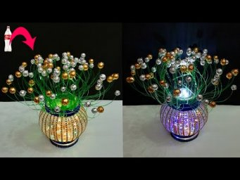 DIY-New Showpiece/Lantern made from Plastic Bottle | Best out of waste Room decoration idea