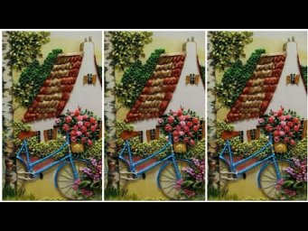 Hand Embroideried Cottage design / Beautiful Wall hanging embroidery designs / H H Creations