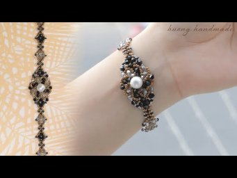 How to make beautiful beaded bracelets with seed beads and bicones. Beading tutorial