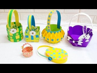 DIY 6 Easter gift basket making ideas at home |DIY Low budget Easter décor ideas