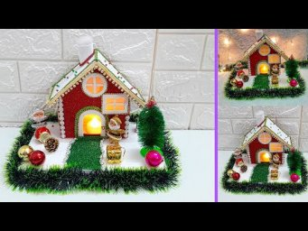 Christmas Showpiece making idea step by step |DIY Economical Christmas  craft ideas