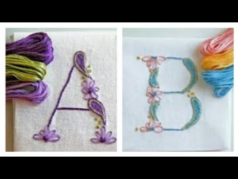 Alphabet Embroidery Patterns / Alphabet Embroidery Designs Ideas / Heavenly Handmade Creations