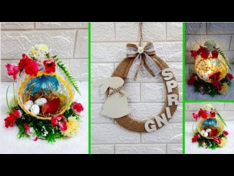 2 Economical Easter/spring craft with waste materials |DIY Low budget Easter décor idea (Part 25)