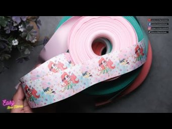 [ASMR] Ribbon Bows step by step - Simple bows with diy bow maker from cardboard #ElysiaHandmade