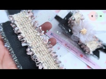 How To Make a Bow With Tulle & Korean Ribbon | Ribbon Tricks & Easy Making Tutorial #75