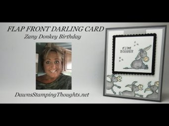 FRONT FLAP DARLING CARD Zany Donkey Birthday