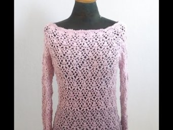 Crochet Top Down Sweater-( Sleeves ) Part 2/2