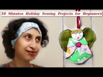 Sew Ear Warmer Headband & Angel Ornament 10 minutes Holiday Sewing Projects for Beginners