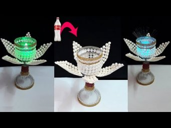 Best out of waste room decoration idea |DIY New Tealight holder/Showpiece made with Plastic Bottle