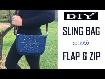 DIY JEANS BAG | SLING BAG | CROSS-BODY BAG | RECYCLED JEANS BAG | BAG SEWING TUTORIAL