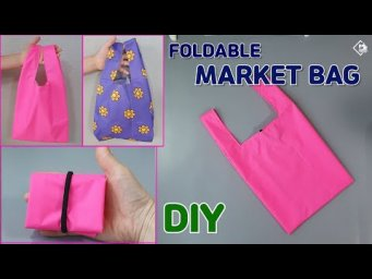 DIY FOLDABLE MARKET BAG/ Reusable grecery bag / TOTE BAG/ ECO BAG/ sewing tutorial [Tendersmile]