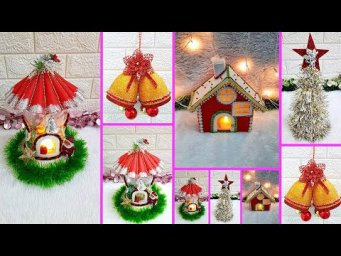 Economical 4 Easy Christmas Craft idea | Best out of waste inexpensive Christmas craft idea