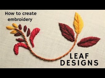 How to stitch different types of beautiful Motifs and Leaves. Hand Embroidery.Malayalam Tutorial 13.