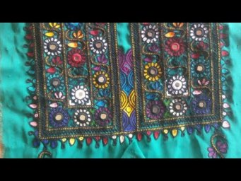 how to stitch hand embroidery mirror hand work on shirt neck design 2020