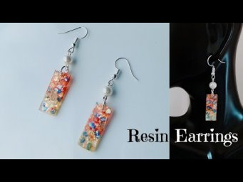How to make resin earrings/making simple and cute uv resin earrings/quick and easy resin earrings