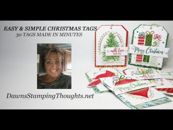 Dawn's Christmas Tags Thank you notes for December 2020
